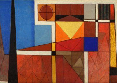"Amanecer, 1955, oil on canvas, 24x36"""