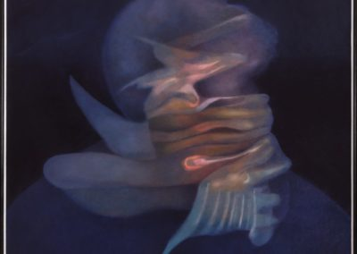 Cabeza hechizada, 1994, oil on canvas, 54x50""