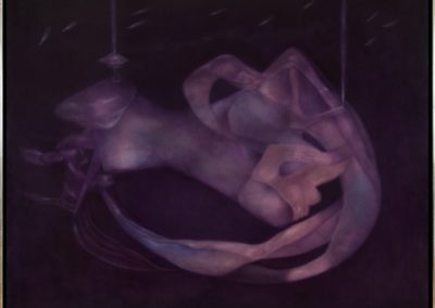 En pos de la noche, 1989, oil on canvas, 40x50""