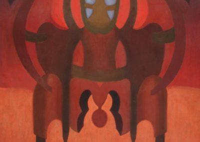 """Flor a contraluz, 1943, oil on wood, 72x48"""""""