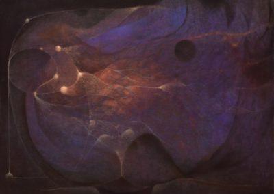"""Las alas del viento, 1976, oil on canvas, 30x40"""""""