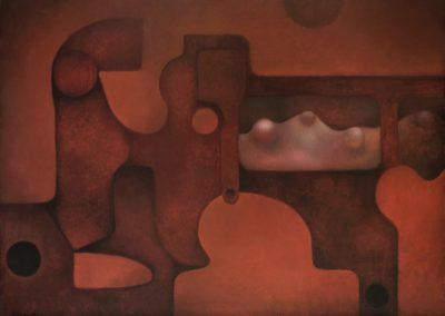 "Mecanismo espacial, 1972, oil on canvas, 30x40"""
