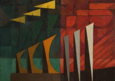 "Paisaje, 1953, oil on canvas, 28x36"""
