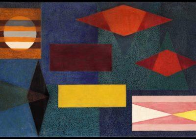 "Plenilunio, 1953, oil on canvas, 30x50"""