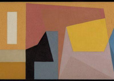 "Sin título, 1952, oil on canvas, 21x37"""