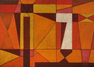 Formas en la luz, 1955, oil on canvas, 22x32""