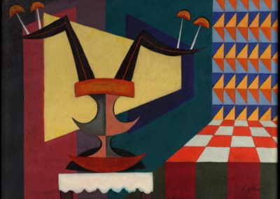 Centro de mesa, 1952, oil on canvas, 36x48""