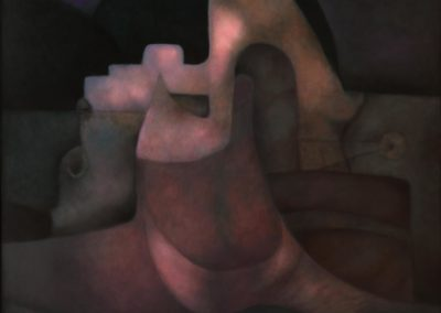 Preludio de un eclipse, 1996, oil on canvas, 54x50""