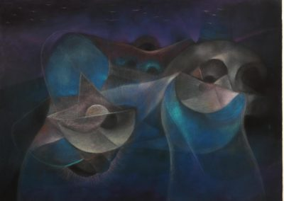 Untitled, 1990s, pastel on paper, 22x30""