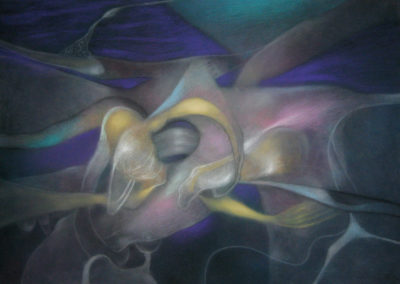 Untitled, 1990, pastel on paper, 22x30""