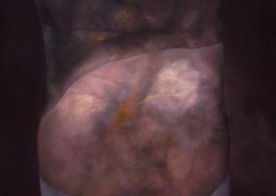 Torso en gris, 1991, oil on canvas, 60x50""