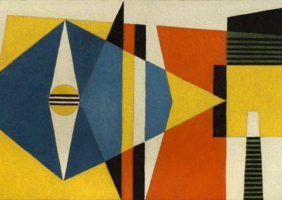 "Sin título, 1959, oil on canvas, 22x38"""