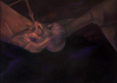 """Mecanismo cósmico, 1992, oil on canvas, 50x60"""""""