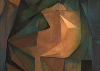 """Cabeza de una reina mística, 1967, oil on canvas, 31x26"""""""