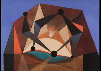 "Danzarines, 1969, oil on canvas, 40x50"""