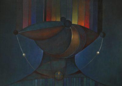 "El collar mágico, 1970, oil on canvas, 30x40"""