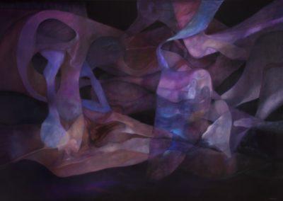 "Espejismos de agua, 1990, oil on canvas, 68x98"""