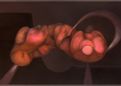 Forma ondulante, 1993, oil on canvas, 30x50""