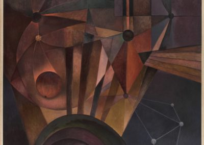 "Galaxia, 1974, oil on canvas, 40x50"""