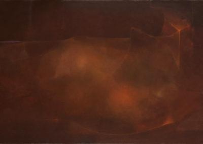 """Imagen otoñal, 1970s, oil on canvas, 20x36"""""""