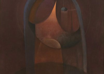 La virgen, 1974, oil on canvas, 40x30""