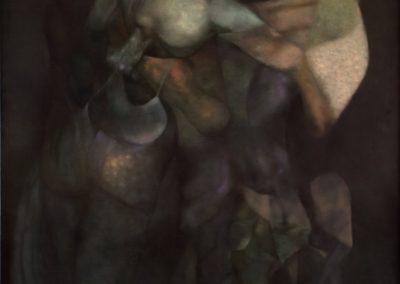 """Los guardianes del silencio, 1988, 60x50"""""""