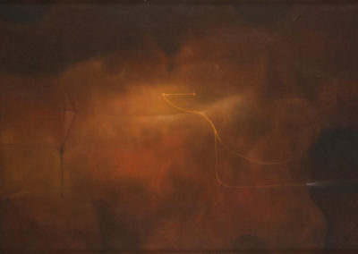 "Luz otoñal, 1970s, oil on canvas, 12x20"""