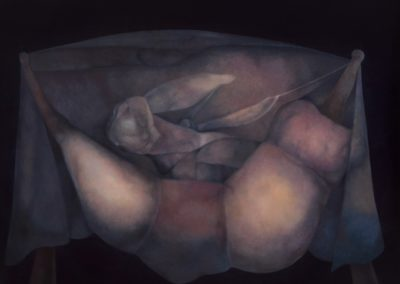 Manto de la soledad, 1987, oil on canvas, 40x50""