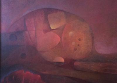"""Meditación en la montaña, 1969, oil on canvas, 30x40"""""""