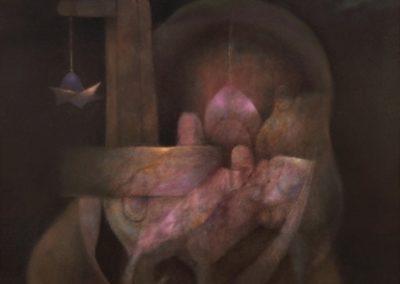 "Mística señal, 1993, oil on canvas, 30x40"""
