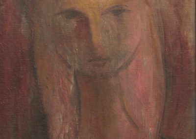Mujer, 1941, oil on canvas, 12x10""