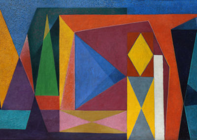 "Sin título, 1951, oil on canvas, 28x50"""