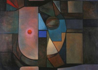"Ventana cosmica, 1966, oil on canvas, 30x40"""